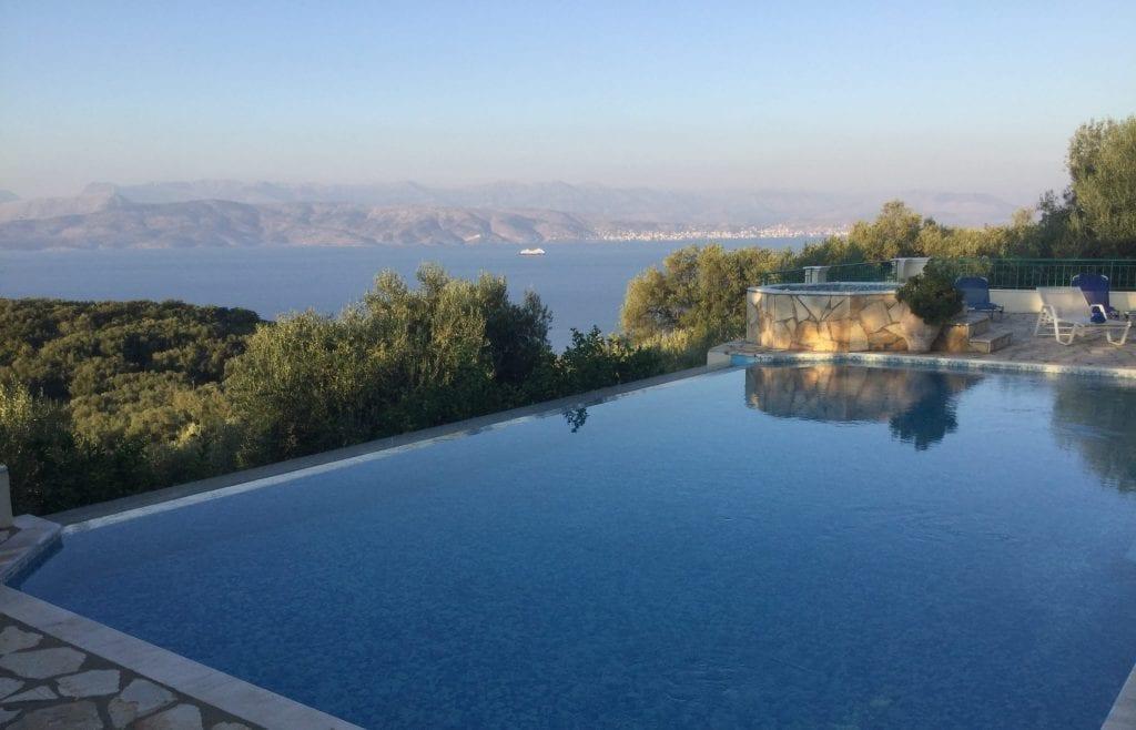 luxury corfu villa pool terrace